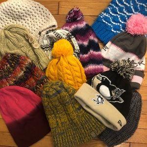 12 beanies winter snowboarding skiing roxy ,burton